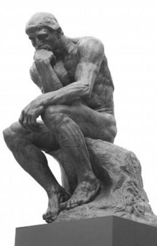 AUGUSTE RODIN - LE PENSEUR - DER DENKER - 1880